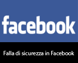 Falla di sicurezza in Facebook