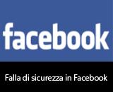 Falla di sicurezza in Facebook